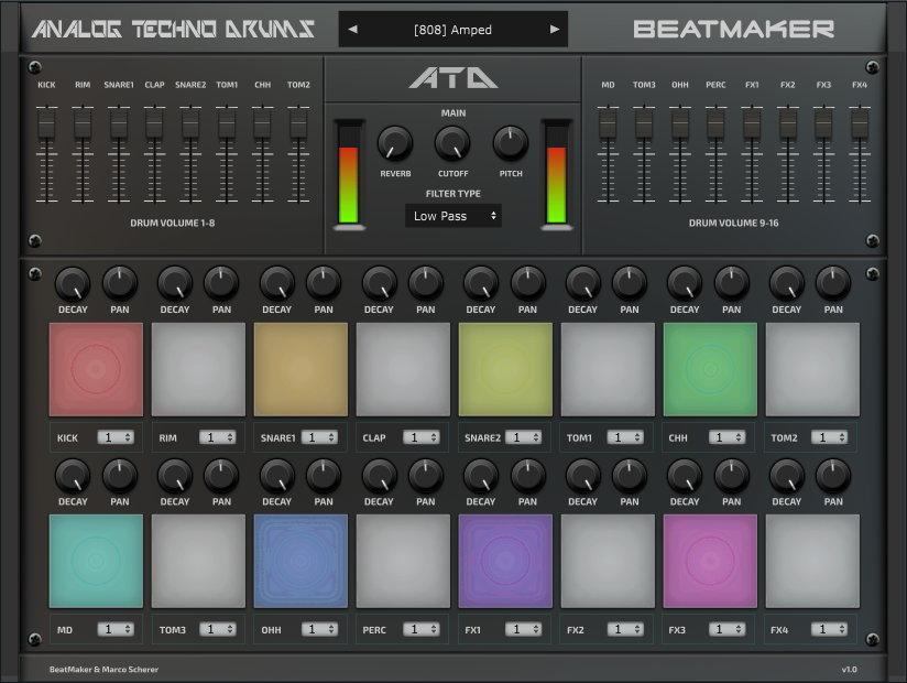 アナログテクノドラムVSTドラムソフトウェア