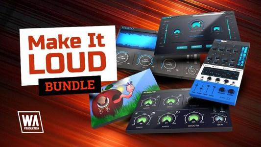 本日18時頃まで【90%OFF】Make it Loud Bundle by W.A Production:5つのプラグインバンドル(サウンドデザイン、サウンド調整、ミキシング、マスタリング)*22,245円→1,040円