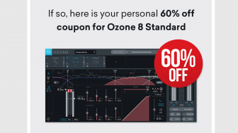 iZotope Ozone8とNeutron2 Standard版がクーポンコード適用で99ドル!