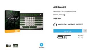 総合音源プラグインのXpand!2 ブラックフライデーで無料配布中!